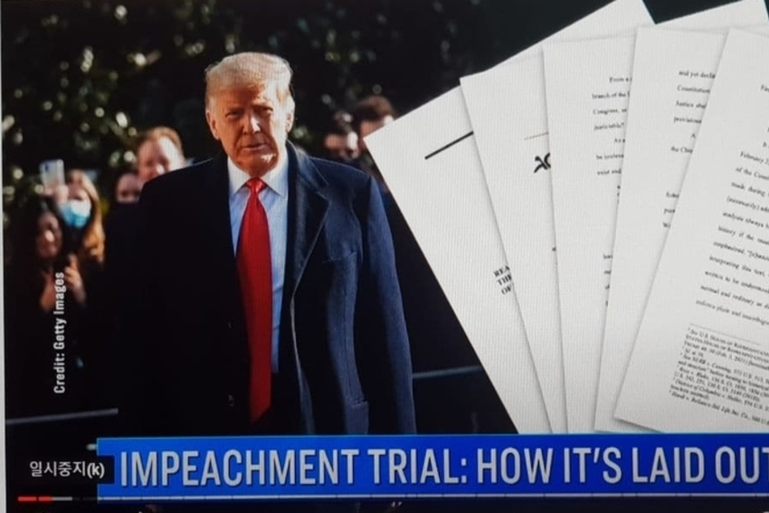 [NEWSinPhoto뉴스인포토닷컴 / #Trump Impeachment 1 Trial] 트럼프 탄핵 1차 재판 하원탄핵소추위 민주당의원 트럼프 폭력배후 덧 씌우기?……연방수사국(FBI) 조사 의사당 난입 사전에 계획된 것 주장 나와?. THE EPOCH TIMES.20210209. U.S. Capital.